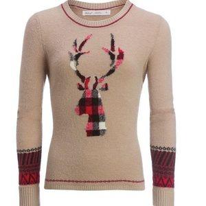 Woolrich | Deer Print Natural Motif Mohair Crew |M